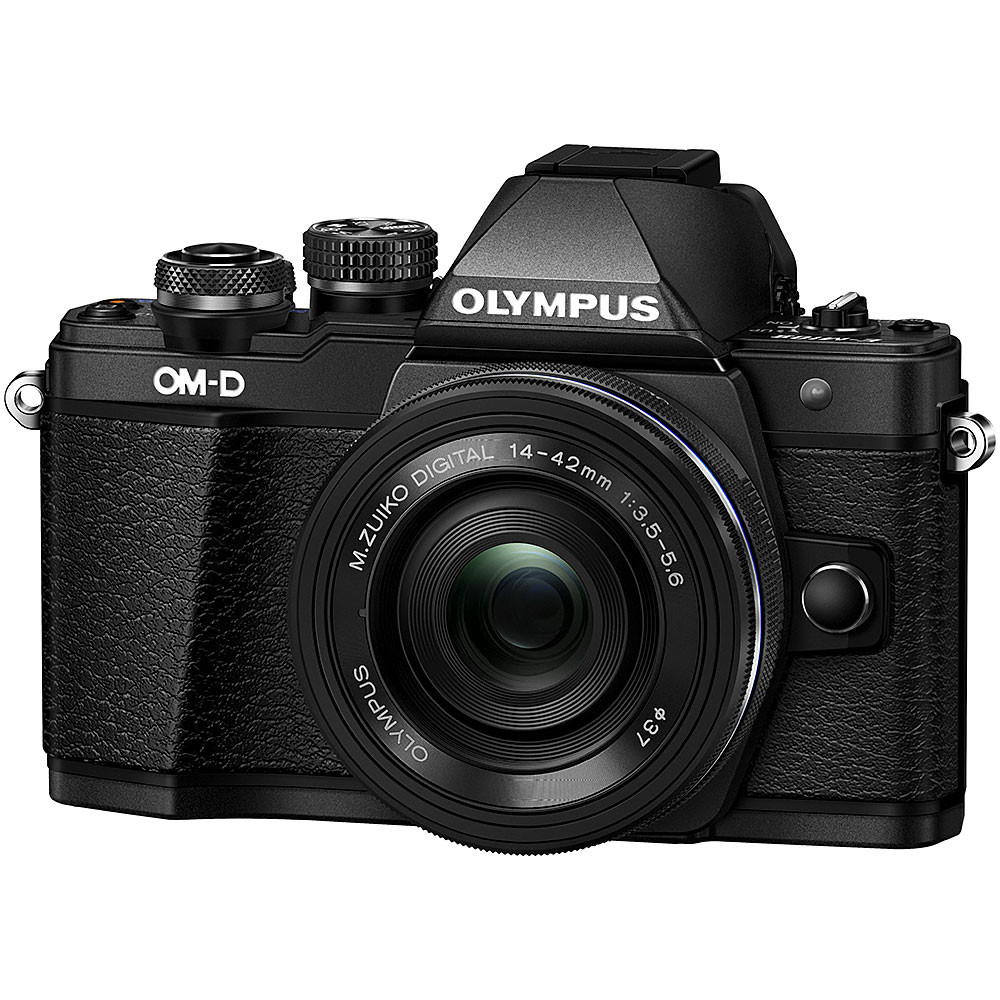 Olympus OM-D E-M10 Mark II Mirrorless Black Camera with 14-42mm EZ Lens