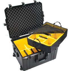 Pelican 1637 Air Case Black with Padded Dividers