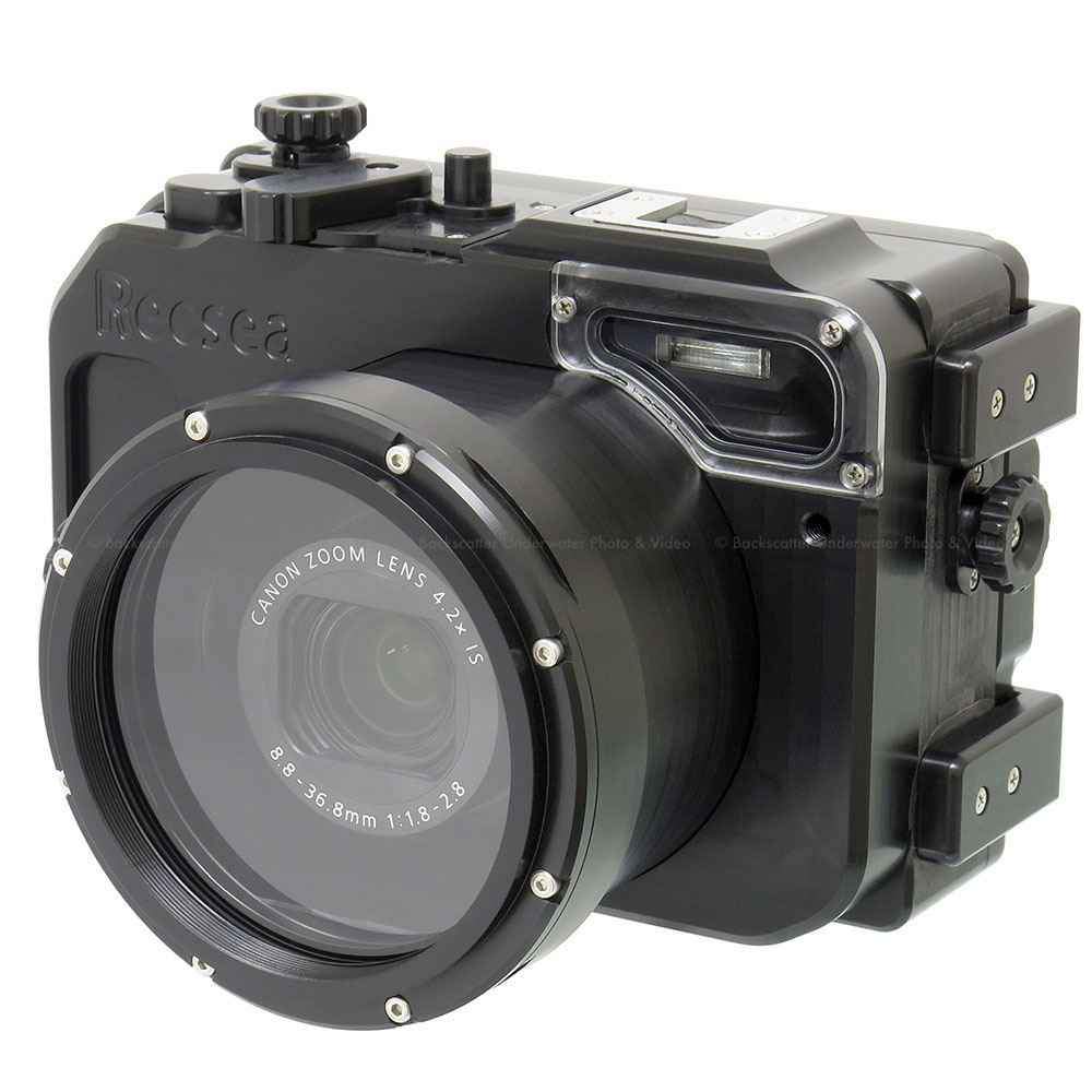 Recsea cwc g7xii underwater housing for canon g7 x mkii for Camera camera