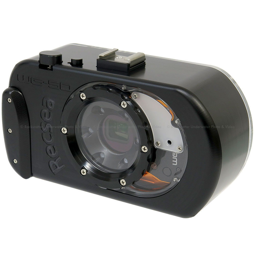 Recsea WHR-WG50/P Underwater Housing with 67mm adaptor for RICOH WG-50, WG-40, WG-30 and PENTAX Optio WG-2 Cameras