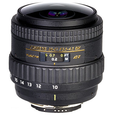 Tokina 10-17mm f3.5/4.5 DX Type II Canon Fisheye Zoom Lens