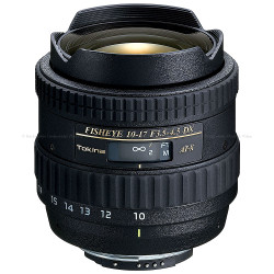Tokina 10-17mm f/3.5-4.5 Fisheye Lens - Canon