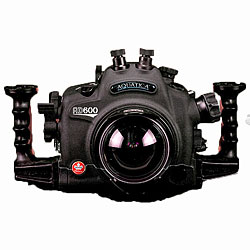 Aquatica AD600 Underwater Housing with One Optical & One Nikonos Bulkhead & Aqua View Magnifying Viewfinder for Nikon D600 SLR Camera aq-20072-hyb-vf.jpg