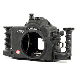 Aquatica A70D Underwater Housing for Canon 70D SLR Camera with One Nikonos & One Optical Bulkhead aq-20074-hyb.jpg