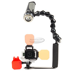 Backscatter GoPro Hero3+, Flip3.1 Filter System with Single Video Light bs-hero3-pkg.jpg
