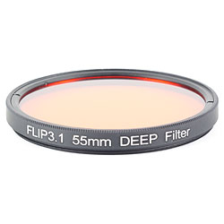FLIP FILTERS 55mm Threaded DEEP Underwater Color Correction Red Filter for GoPro 3, 3+, 4, 5 ff-55deep.jpg