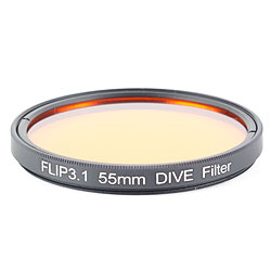 FLIP4 55mm Threaded DIVE Underwater Color Correction Red Filter ff-55dive.jpg