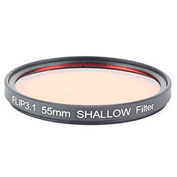 FLIP FILTERS 55mm Threaded SHALLOW Underwater Color Correction Red Filter for GoPro 3, 3+, 4, 5 ff-55shal.jpg