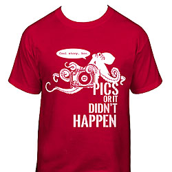 Ikelite Octopus Pics Or It Didn't Happen T-Shirt - Large ike-3109lg.jpg