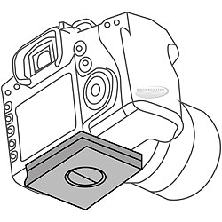 Nauticam NA-650D Housing Replacement Camera Tray for Canon T4i 650D Camera na-90059.jpg