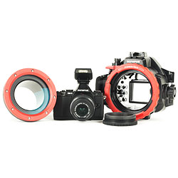 Olympus OM-D E-M5 Camera, 14-42mm II Lens, PT-EP08 Underwater Housing, PPO-EP01 Lens Port & 14-42mm Zoom Gear ol-v204041bu050.jpg