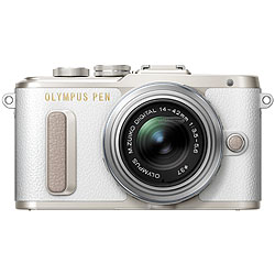 Olympus PEN E-PL8 Mirrorless Camera with 14-42mm II R Lens - White ol-v205081wu000-410.jpg