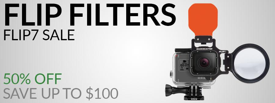 Flip Filters FLIP7 Underwater Filters for GoPro HERO 3, 3+, 4, 5, 6, 7