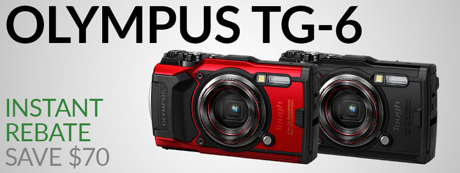 OLYMPUS TG-6 AND PT-059 UNDERWATER CAMERA AND HOUSING