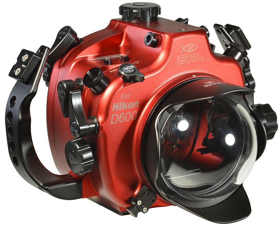 Isotta Underwater Camera Housing Accessory Ports with Backscatter