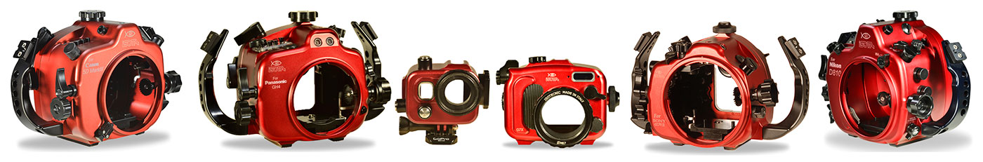 Isotta Underwater Camera Housing Line-Up with Backscatter