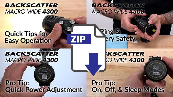 Backscatter MW-4300 Instruction Videos