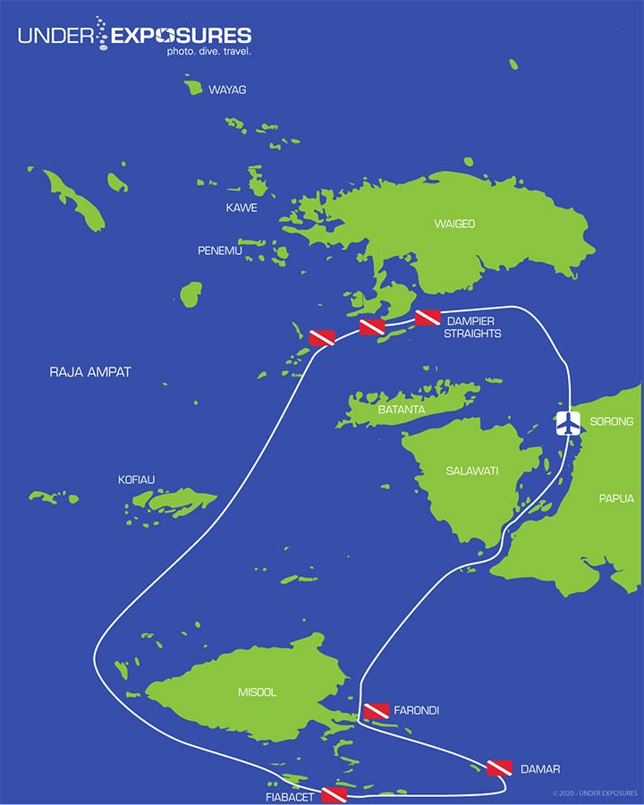 Raja-Ampat-Indonesia-Samambaia-Map