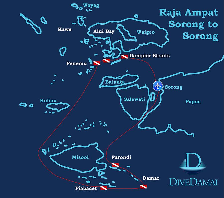 Raja Ampat, Indonesia – Dive Damai II - Map