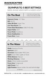 Olympus TG-5 Best Underwater Camera Settings - Underwater