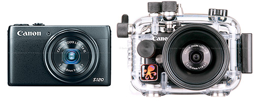 The <a href='http://www.backscatter.com/sku/cn-8407b001.lasso' class='standard'>Canon S120</a> and Ikelite Housing
