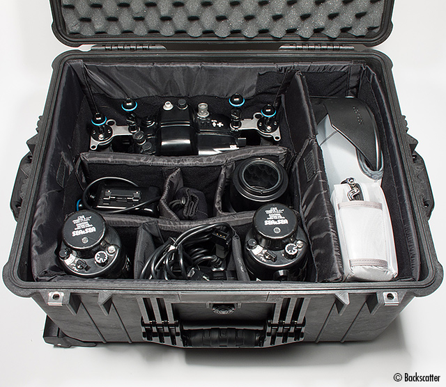 Pelican Case packed with an underwater camera system