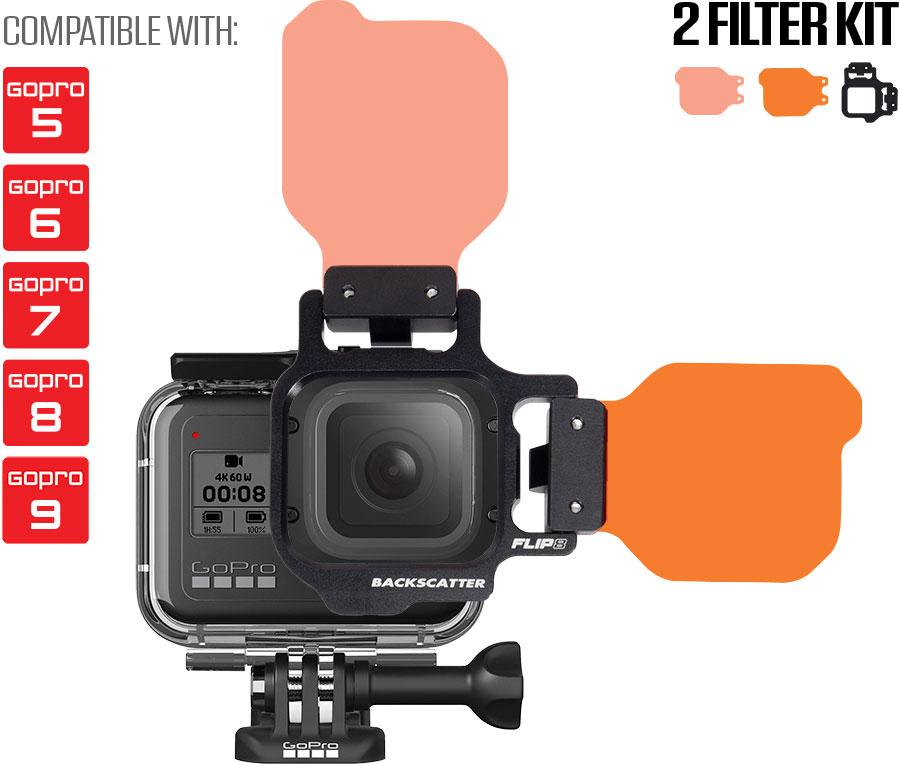 Flip Filters FLIP8 Underwater Color Correction for GoPro HERO5, HERO6, HERO7, HERO8 Cameras
