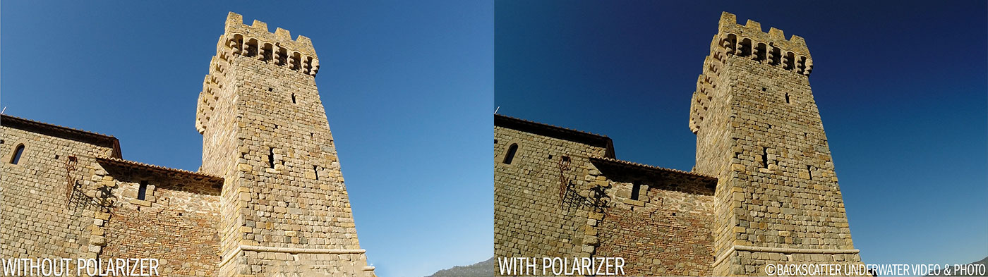 Flip5 GoPro Polarizer With and Without Sky