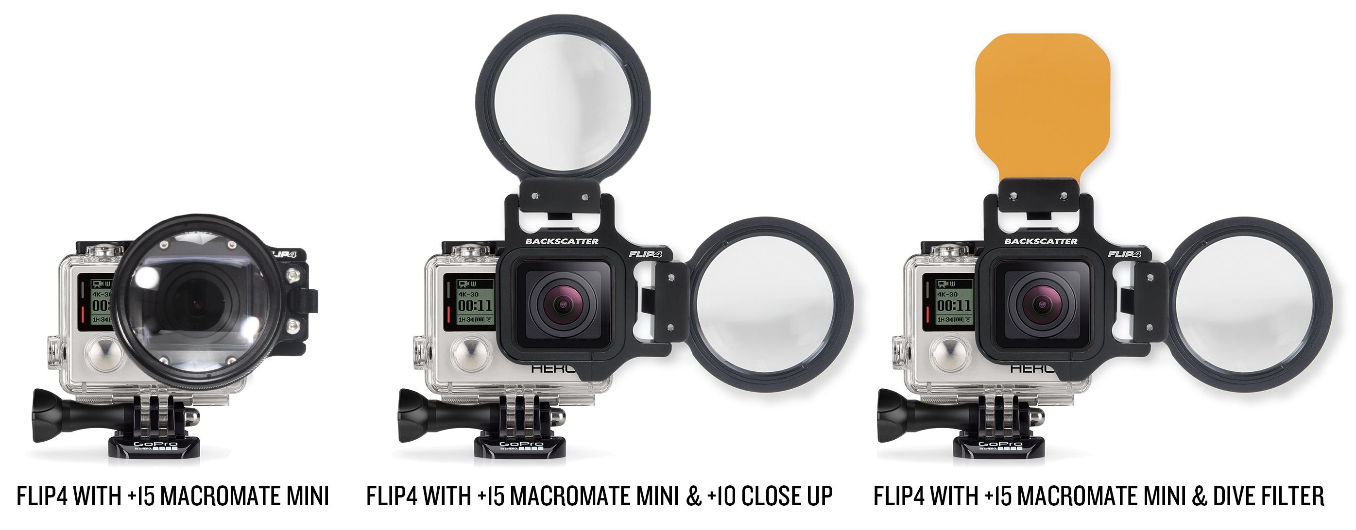 GoPro Underwater Macro Lens - Macro mate Mini - FLIP Configurations