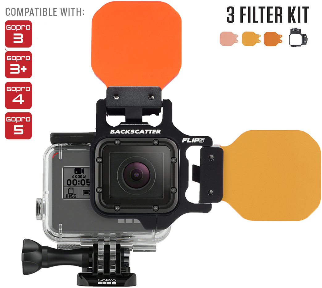 Flip Filters FLIP6 Underwater Color Correction for GoPro HERO3, HERO3+, HERO4, HERO5 & HERO6 Cameras