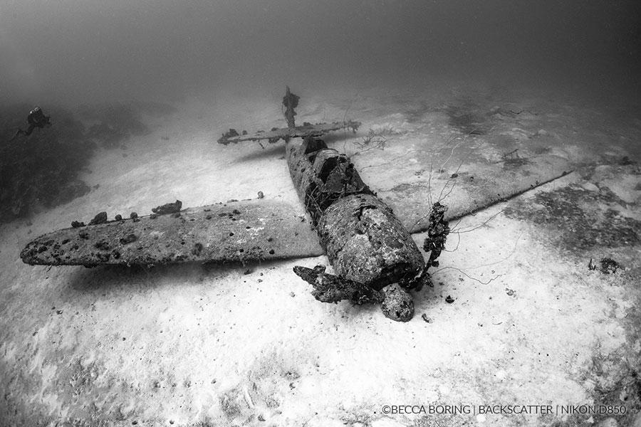 ©Becca Boring - Truk Lagoon - WWII Fighter Plane