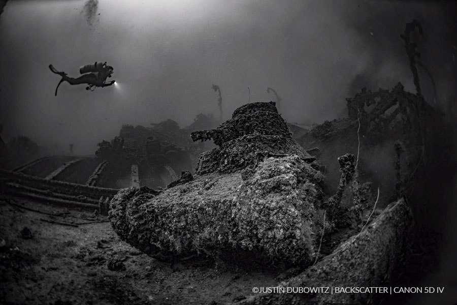 ©Justin Dubowitz - Truk Lagoon - WWII Tank