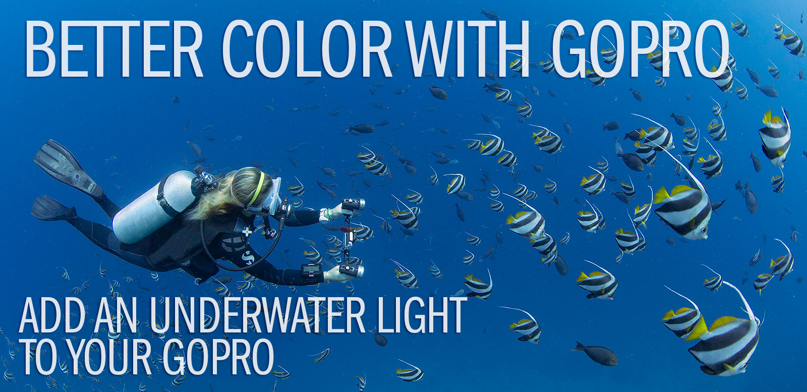 Want color? Add an underwater light to your GoPro!