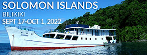 Solomon Islands – Bilikiki Sept 17 – Oct 1, 2022
