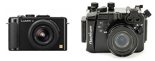 Panasonic Lumix DMC-LX7 with Nauticam NA-LX7 Housing