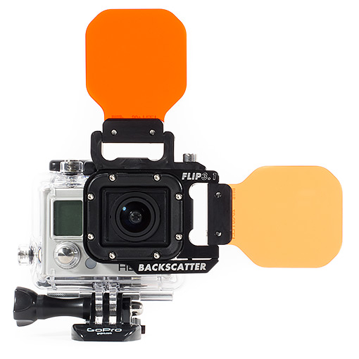 Backscatter GoPro Flip3.1 top mounted filter.