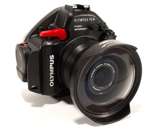 Olympus PEN Underwater Housing Review - Image of housing with Zen dome