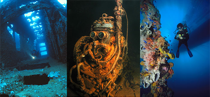 Truk Lagoon is a wreck diver's paradise