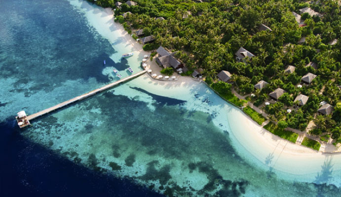 Aerial view of Wakatobi Resort