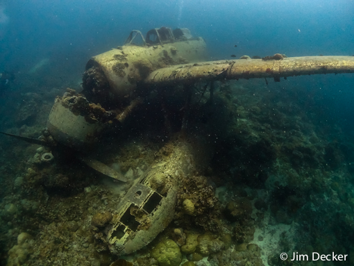 Jake's seaplane photographed in Palau by Jim Decker using an Olympus <a href='http://www.backscatter.com/sku/ol-v104120bu000.lasso' class='standard'>Tough TG-2</a>
